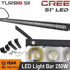 Led Flood Light Bars by 52 Inch 250w Cree Single Row Led Light Bar Spot Flood Combo