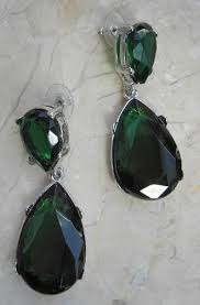 emerald drop emerald tear drop earrings