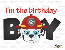 birthday boy im the birthday boy marshall paw patrol diy printable iron