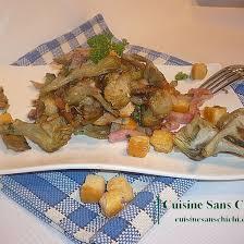 comment cuisiner les artichauts violets recette poêlée de petits artichauts violets aux lardons et croûtons