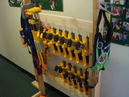 wall mount gun hangers nerf storage ideas a and a glue gun