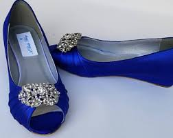 wedding shoes blue blue wedding shoes etsy