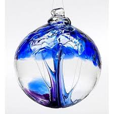 amazon com tree of winter hand blown glass ornament home u0026 kitchen