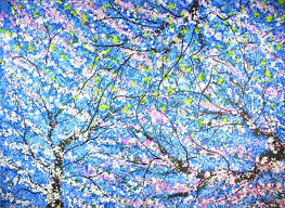 saatchi art very large abstract impressionism spring blossom