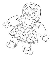rag doll i bought a pack of loose embroidery patterns u2026 flickr