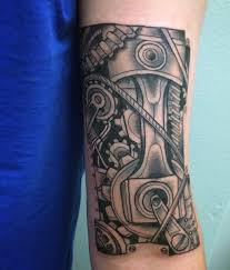 45 mechanical engine tattoos