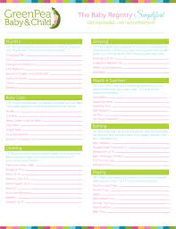 baby shower registries photo baby shower registry checklist image