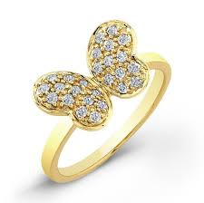 rings butterfly images 14k yellow gold diamond butterfly ring jpg