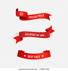 ribbon for sale sale price banner tag ribbon business stock vector 739241128