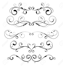 vector set of floral decorative ornament page royalty free