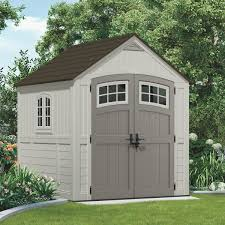 Steel Garden Storage Containers Suncast 7x7 Blow Molded Resin Storage Shed Bms7790 Do It Best