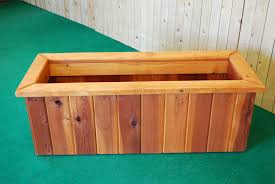 Redwood Planter Boxes by Pl Box Redwood Rectangle Planters U2014 The Redwood Store