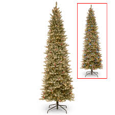 national tree company 6 5ft frosted mountain fir slim hinged tree