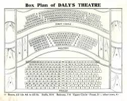 theatre floor plan daly u0027s theatre seating plan u2013 the play pictorial u2013 1909