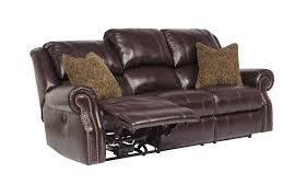 Leather Reclining Sofa Set by Buy Walworth Blackcherry Reclining Sofa By Signature Design From