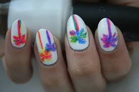 opi neon revolution palm trees nail art hello glossy