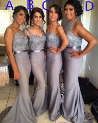2016 4 styles lace crystal satin bridesmaid gown peach ivory
