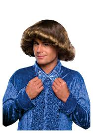 70s Halloween Costumes Men Disco Prom Wig Funny 70s Costume Accessories Men
