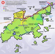 Hong Kong International Airport Floor Plan Hong Kong Lantau Island Map Hong Kong Maps China Tour Advisors