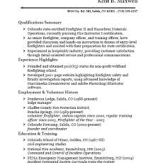 Sample Resume For Firefighter Position by Firefighter Resume Job Description Sample Resume Kent B Maxwell