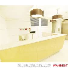 Nail Salon Reception Desk High Quality Modern Artificial Marble Solid Surface Hospital