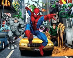 Designing A Wall Mural Wall Ideas Spiderman Wall Mural Amazon Spiderman Cracked Wall