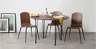 Extending Dining Table And Chairs Uk Ryland Extending Dining Table And 4 Chairs Set Walnut And Black