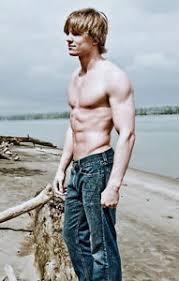 frat boy haircut shirtless male frat boy shaggy hair blonde hunk abs chest arms