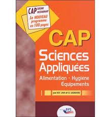 livre cap cuisine sciences appliquées cap cuisine restaurant broché