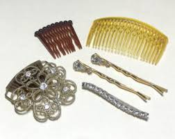 vintage hair combs vintage hair accessories etsy