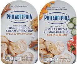 kroger 1 49 philadelphia bagel chips u0026 cream cheese dip 0 75