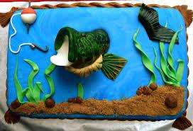 bass fish cake bass fishing cake cakecentral