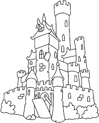 irish castle coloring page castle drawing easy at getdrawings com free for personal use