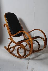 Bent Wood Rocking Chair A Thonet Style Bentwood And Leather Rocking Chair The Patchwork