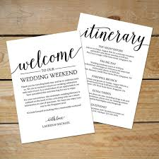 destination wedding itinerary template wedding itinerary template wedding welcome note printable