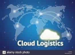 World Cloud Map by Cloud Logistics Concept Transportation Integration Concept