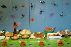 refreshments u0026 decorations for birchtree halloween party the