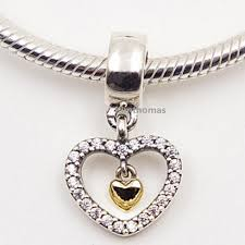 pandora necklace silver charm images 2018 925 sterling silver 14k real gold forever in my heart jpg