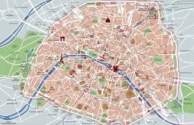 Detailed Map Of France by Large Detailed Tourist Attractions Map Of Paris City Vidiani Com