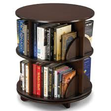 Rotating Desk Organizer by The Rotating Bookcase Hammacher Schlemmer