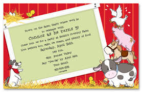 Barn Animal Party Supplies Farm Animal Birthday Party Theme Invitations U0026 Party Invitations
