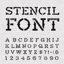 Mexican Flag Stencil Western Retro Alphabet Vector Stencil Font Stock Vector Art