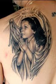 back shoulder tattoos men 65 angel tattoos for men shoulder