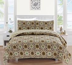 amazon com samantha collection 3 piece luxury quilt set with