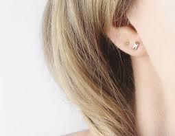 tiny earrings 14k yellow tiny dot stud earrings vrai oro
