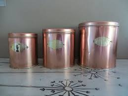 copper canisters kitchen ballonoff copper canister set vintage canisters metal canisters