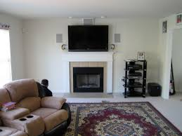 5 1 home theater subwoofer tv over fireplace wires hidden home