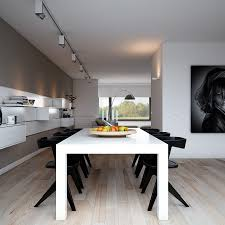 indulgent grey apartment modern dining with monochrome setting