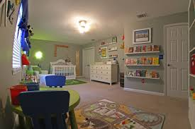 colorful disney and toy story inspired nursery and play room
