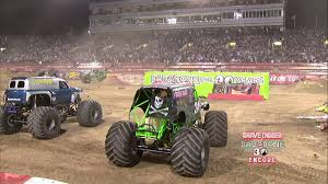 youtube monster trucks racing monster jam world finals xiii encore 2012 grave digger 30th